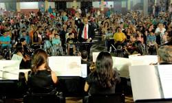 Nuevo concierto didáctico de la OSN en el Colegio Adventista|OSN omba'epuporãta Colegio Adventista-pe imagen