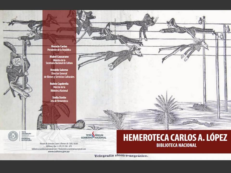 Tríptico: Emeroteca Carlos A. López imagen