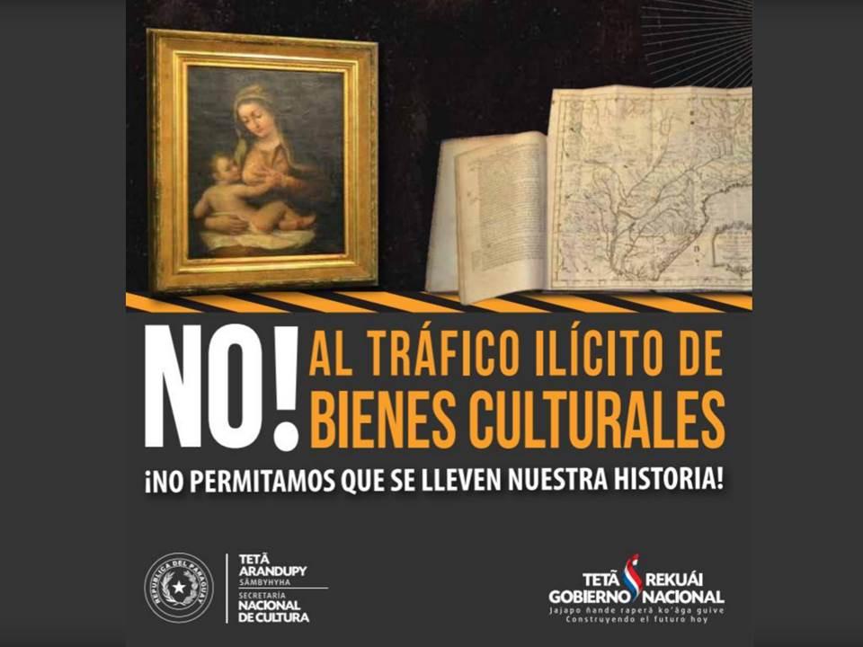 Díptico: No! Al Tráfico Ilícito de Bienes Culturales imagen
