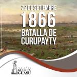 Mensaje del Ministro de Cultura con motivo del 150 aniversario de la Batalla de Curupayty