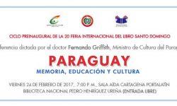 Ministro Cultura disertará sobre el Paraguay en República Dominicana imagen