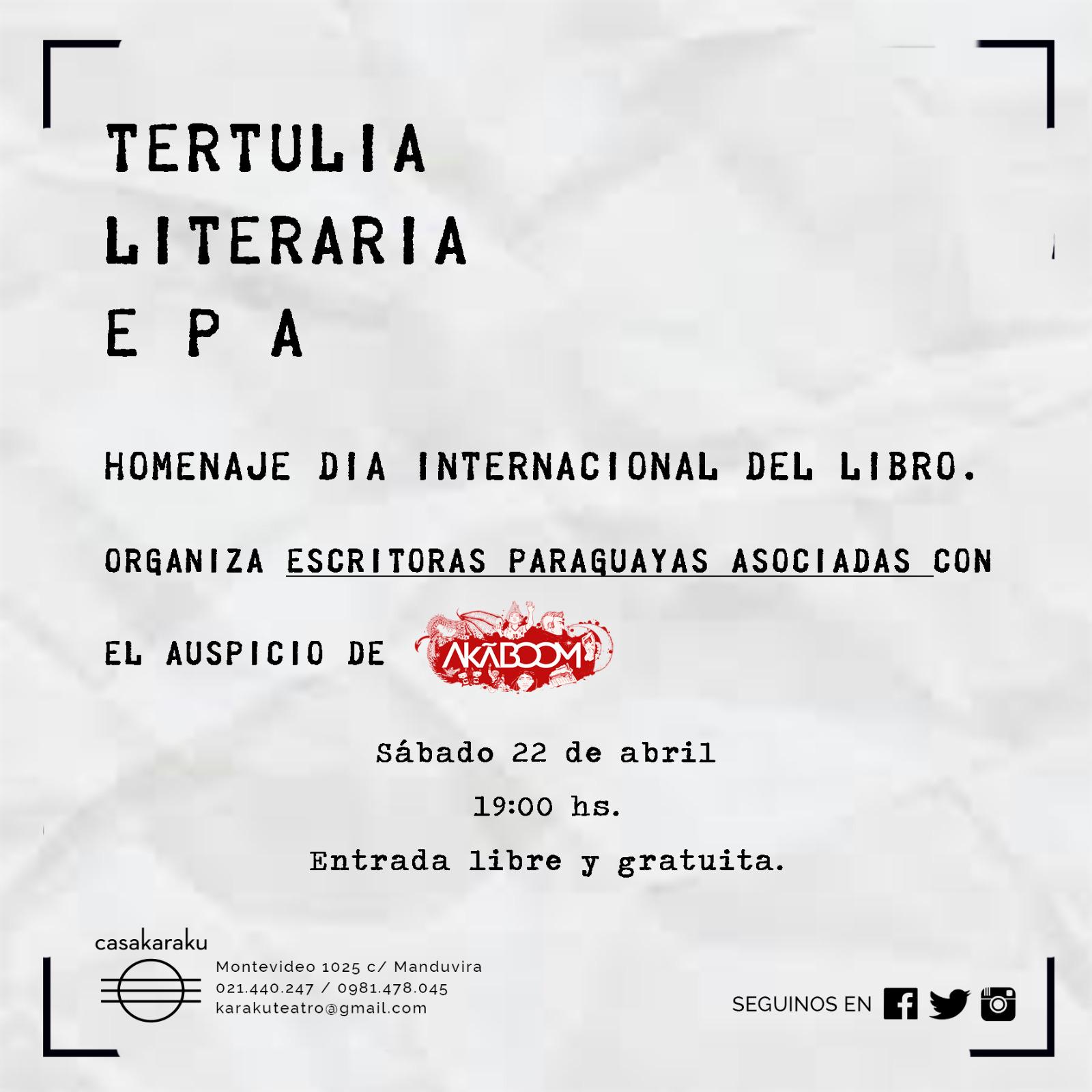 Escritoras organizan tertulia literaria en homenaje al día internacional del libro imagen