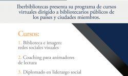 Convocatoria IBERBIBLIOTECAS hasta el 26 de abril, para cursos virtuales dirigido a bibliotecarios públicos imagen