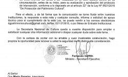 SNC solicita a intendentes colaboración para la protección del Patrimonio Cultural de los municipios del país imagen