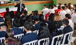 Ministro disertó sobre Paraguay y su Historia desde la Cultura ante estudiantes de Areguá imagen