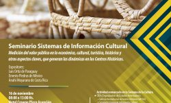 Cuenta Satélite de Cultura se analizará durante Seminario imagen