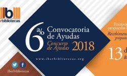 Convocatoria IBERBIBLIOTECAS 2018 vigente hasta el 13 de abril imagen
