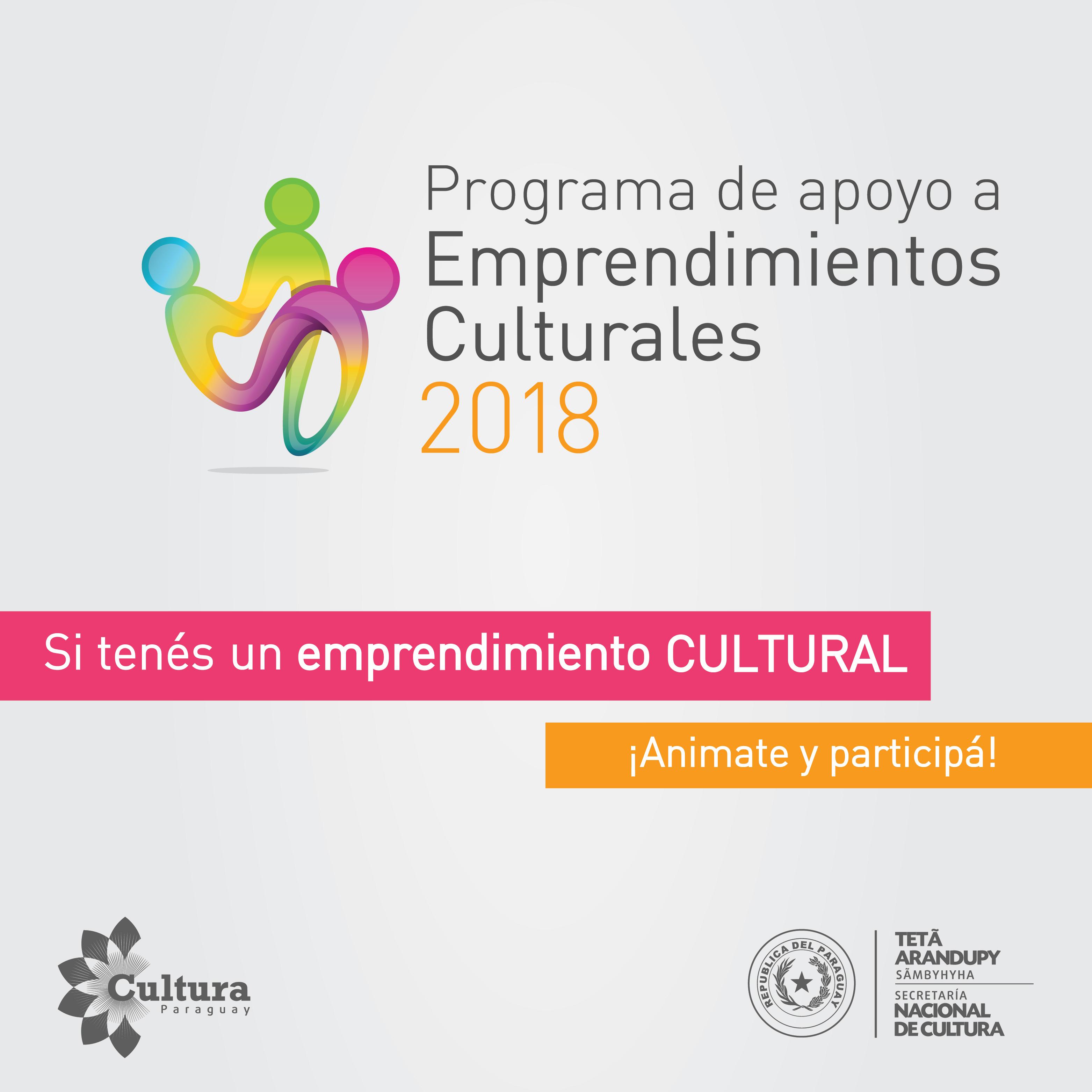 Proyectos seleccionados en el Programa de apoyo a emprendimientos culturales 2018 imagen