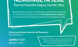 Cultura realizará el Ñemongeta jeré en Ñeembucú imagen