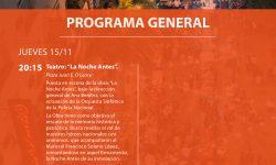 Extensa agenda de la Semana de la Cultura y la Diversidad para el jueves 15 de noviembre imagen