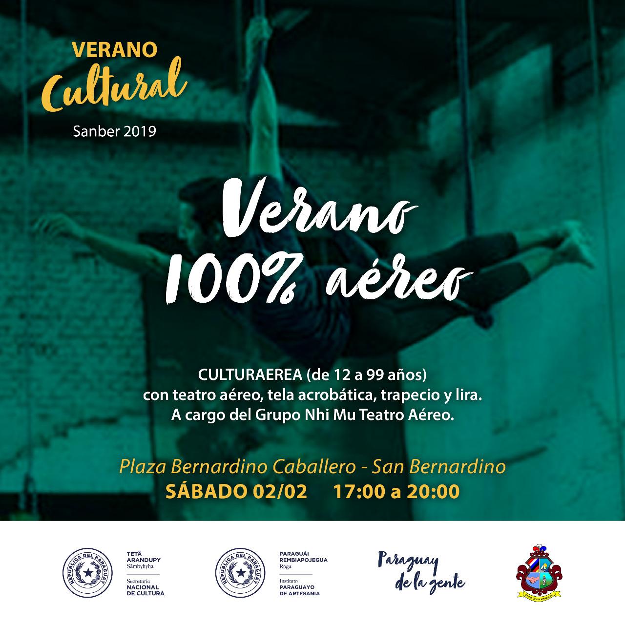 Flyer Verano Cultural Sanber 1 imagen
