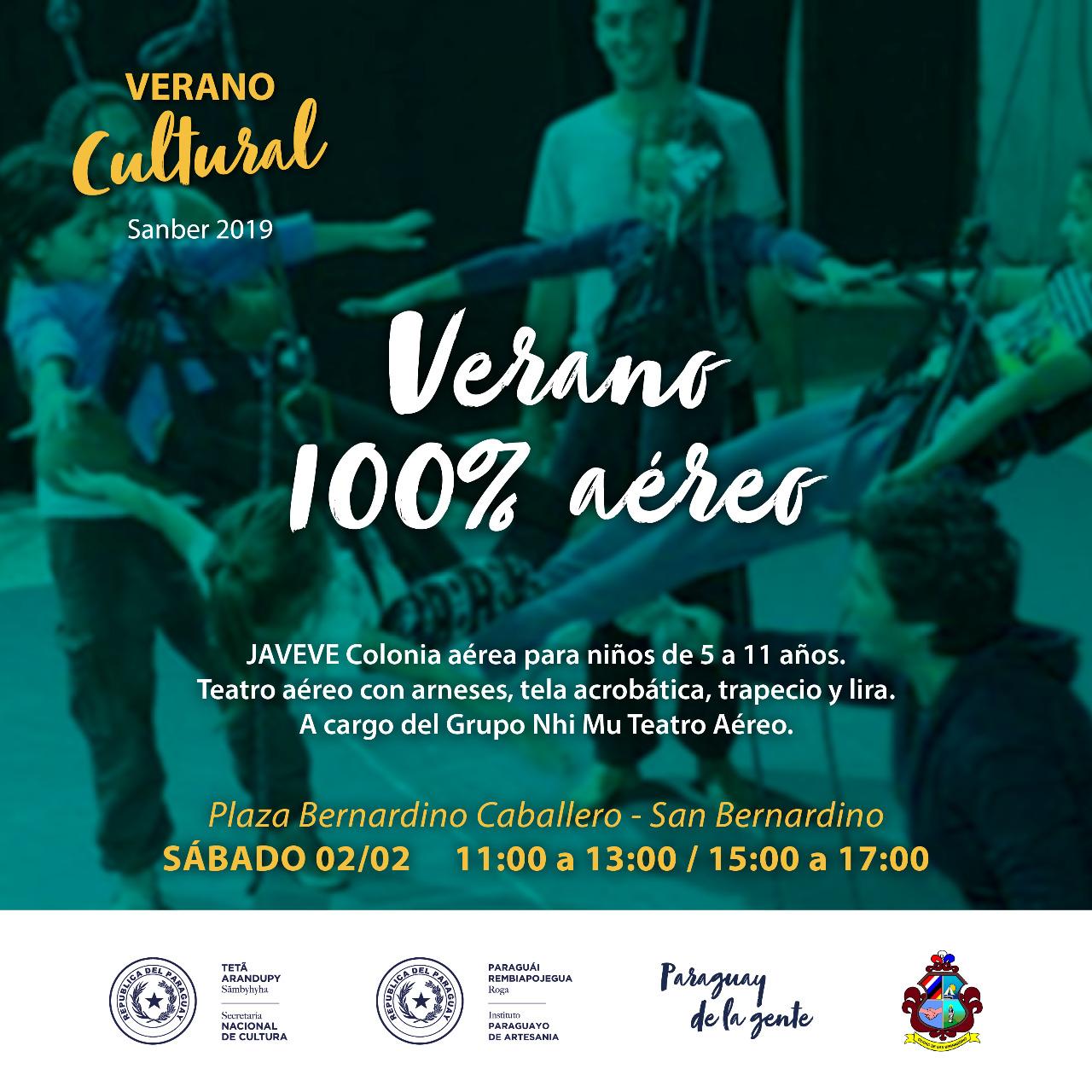 Flyer Verano Cultural Sanber 2 imagen