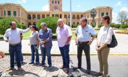 Expertos de la SNC proseguirán exploración ante hallazgos de adoquines antiguos frente al Palacio de Gobierno imagen