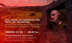 Conmemorarán el Día de los Héroes en Cerro Corá imagen