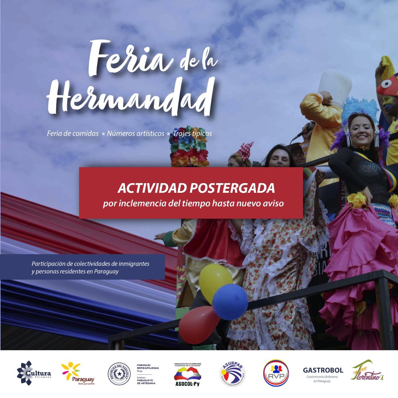 """Posponen por lluvia la """"Feria de la hermandad"""" imagen"""