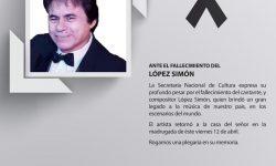 Ante el fallecimiento de López Simón imagen