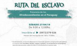 """Realizarán visita guiada por """"La Ruta del esclavo"""" imagen"""