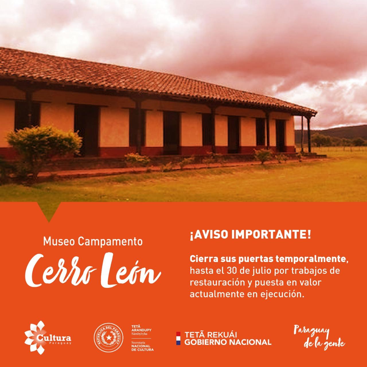Museo Campamento Cerro León permanecerá cerrado hasta el 30 de julio imagen