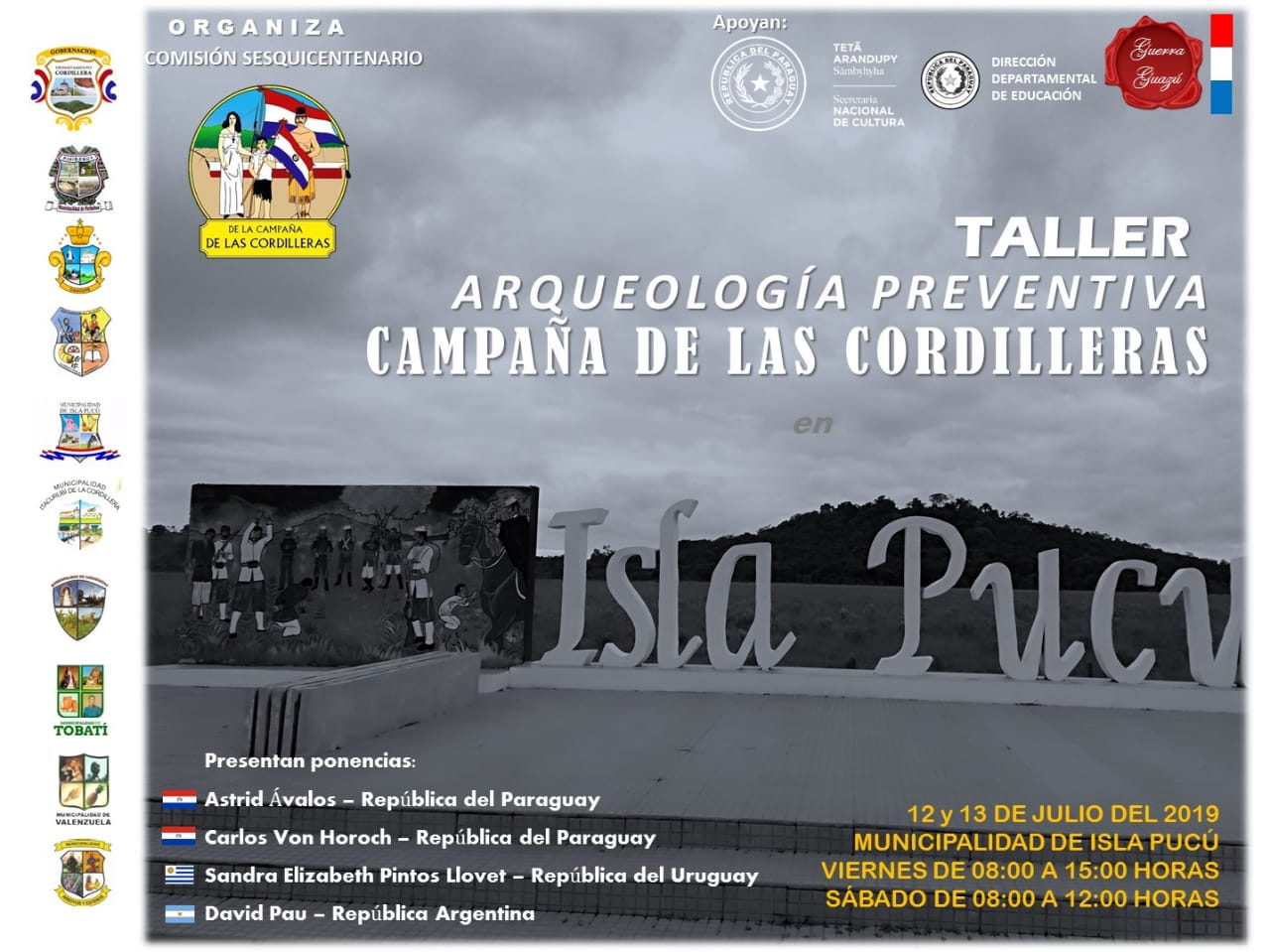 """Realizarán en Isla Pucú el """"Taller de Arqueología Preventiva – Campaña de las Cordilleras"""" imagen"""