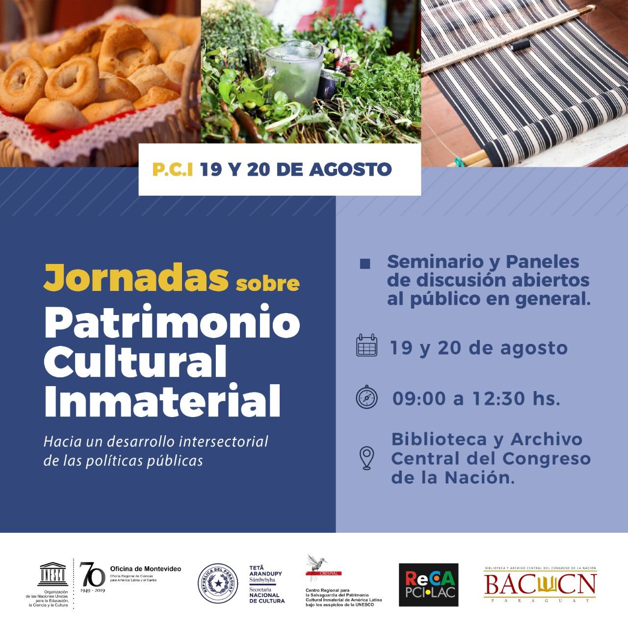 Realizarán Jornadas de Patrimonio Cultural Inmaterial en Paraguay abierta al público imagen