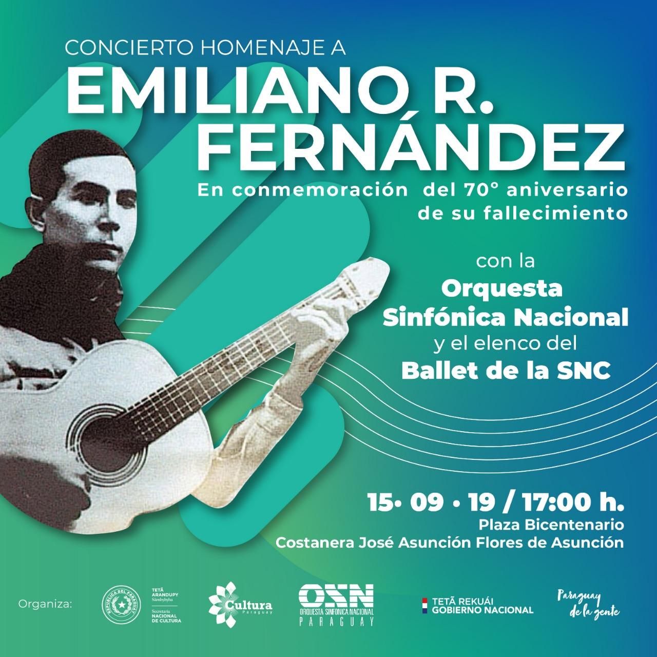 SNC rendirá homenaje a Emiliano R Fernández, el poeta del pueblo imagen