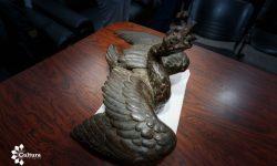 SNC celebra recuperación del ganso de hierro fundido