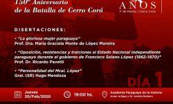 Propuesta académica en el marco del Sesquicentenario de Cerro Corá