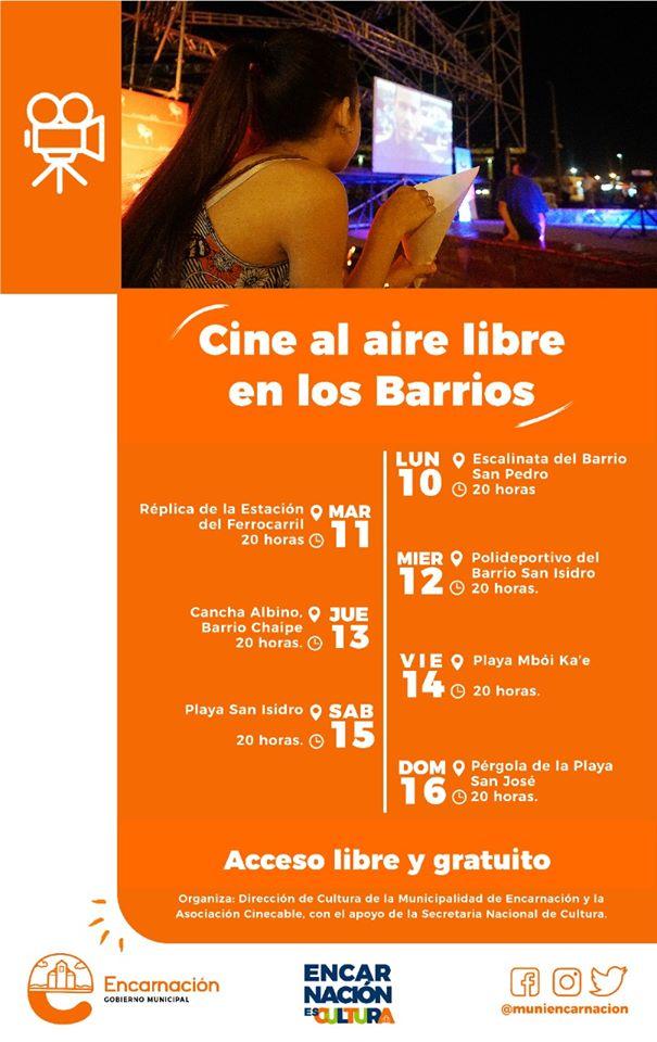 Cine paraguayo se proyectará en barrios de Encarnación con apoyo de la SNC imagen