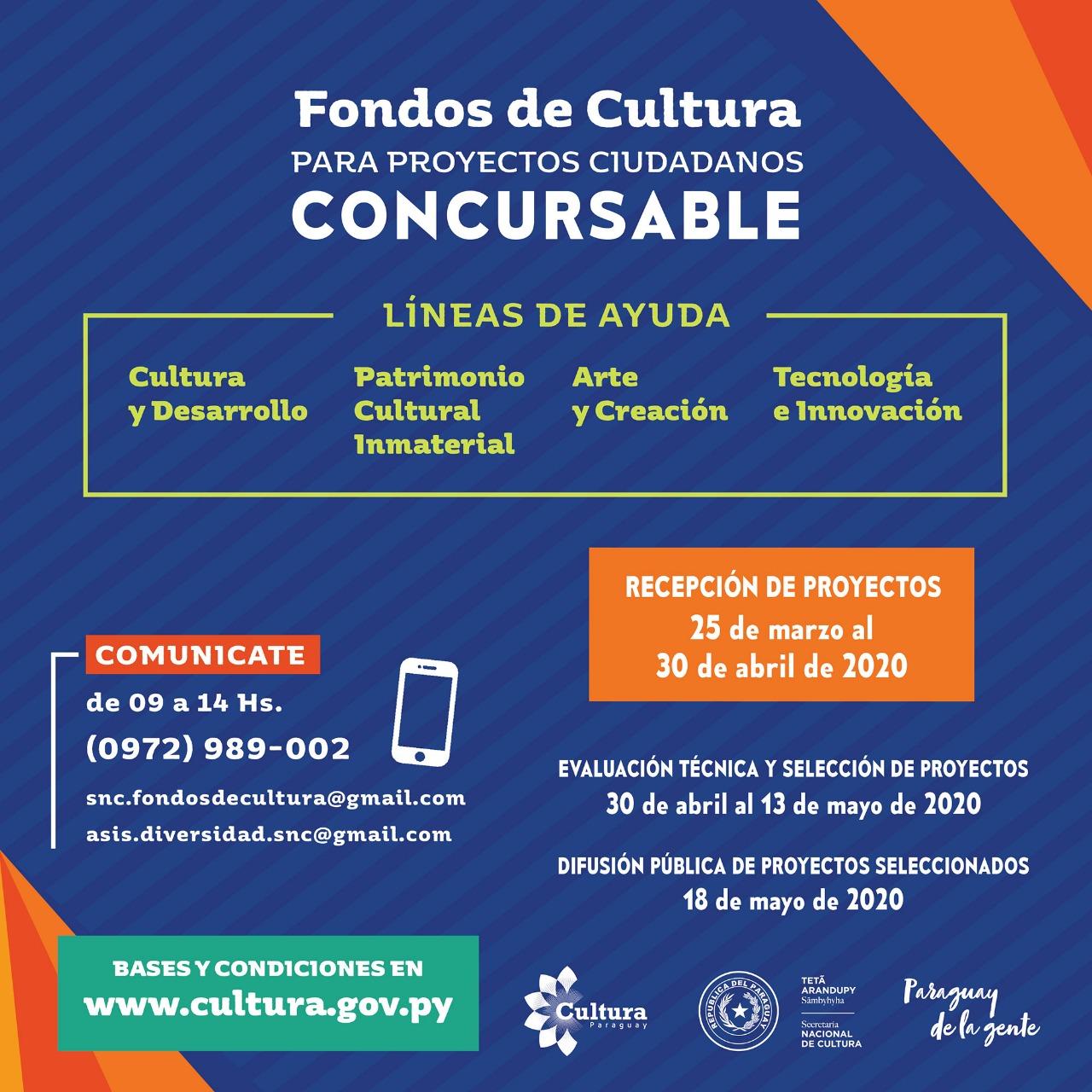Cultura habilita concurso para financiar proyectos ciudadanos imagen
