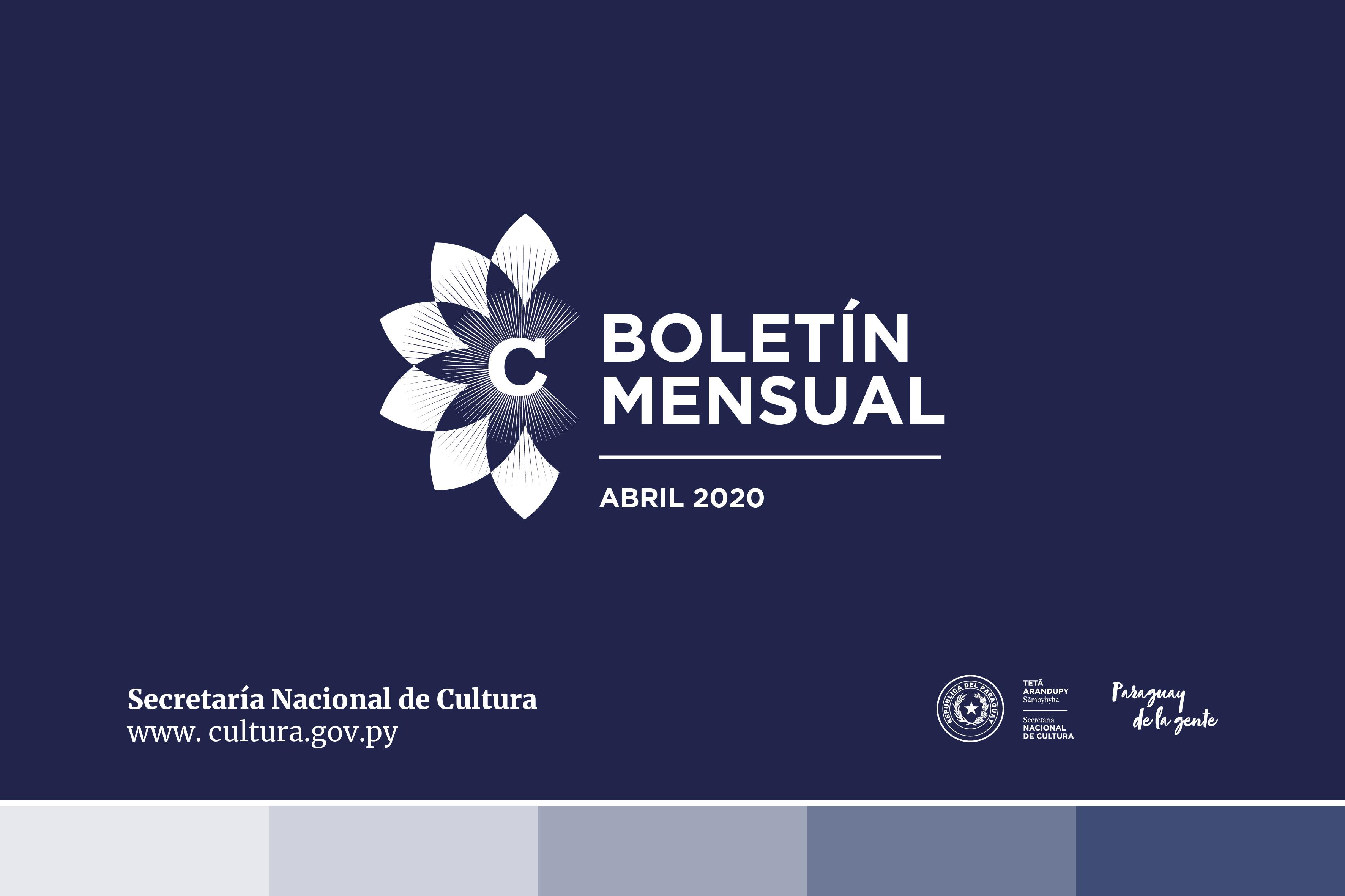 Boletín mensual: Abril 2020 imagen