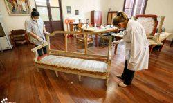 Avanza la puesta en valor de los Bienes Muebles del Palacio de López