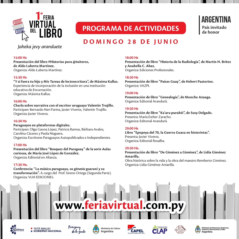 Cuarto día de la Feria Virtual del Libro con la presentación de numerosas obras literarias imagen