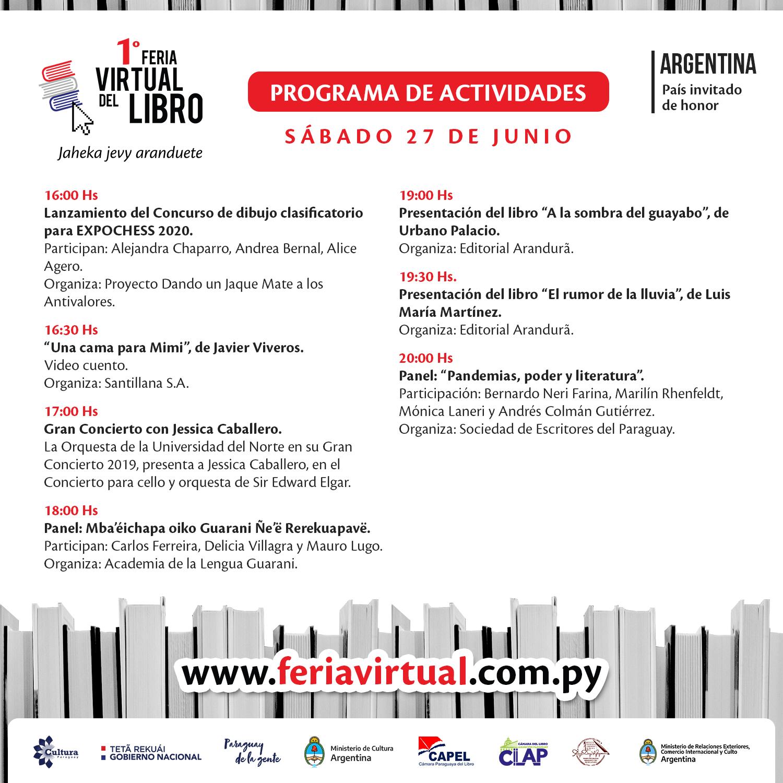 Primer sábado de la Feria Virtual de Libros llega con variada agenda de actividades imagen