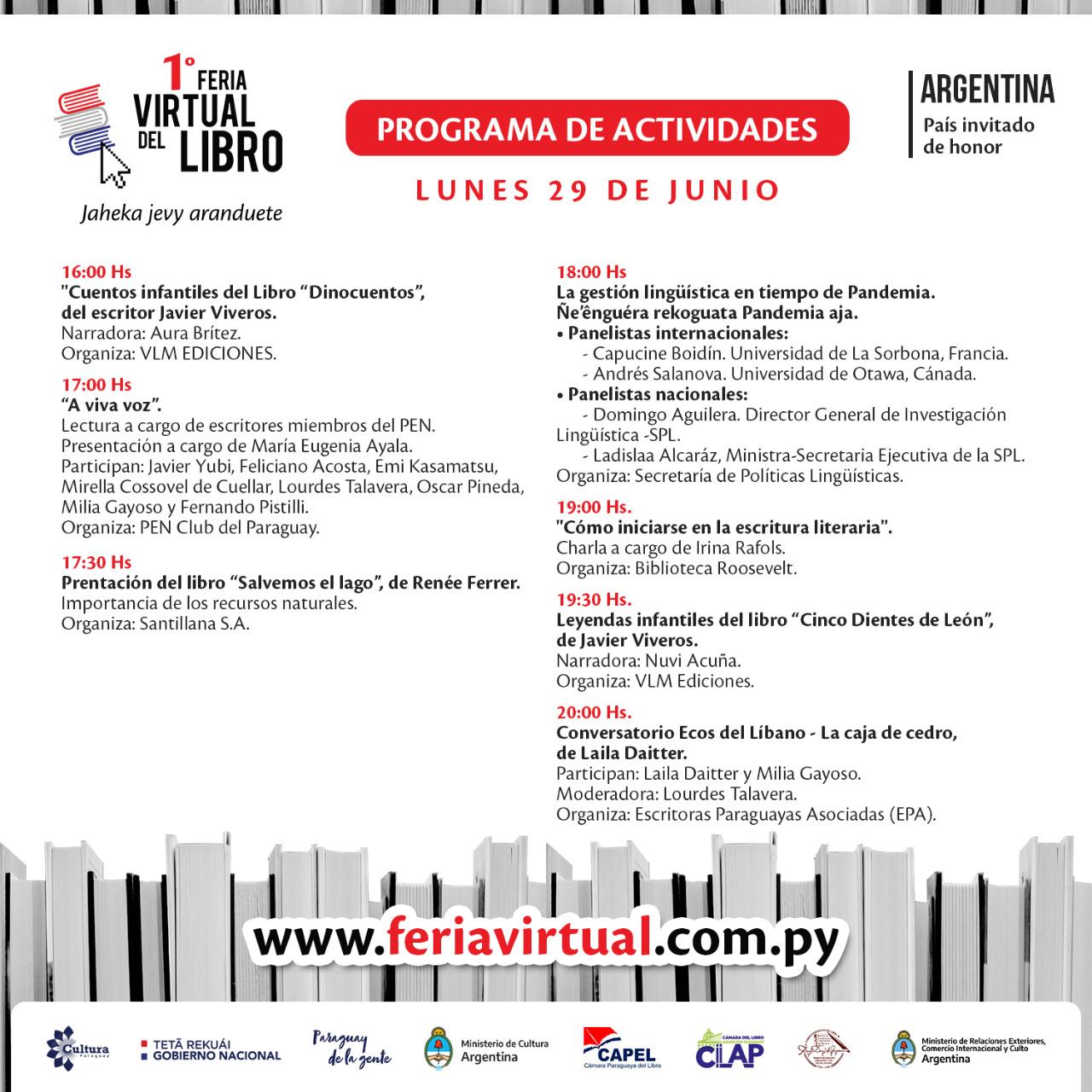 Feria Virtual del Libro: lunes con diversas actividades y participación internacional imagen
