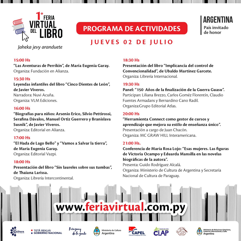 Jueves con agenda internacional en la Feria Virtual del Libro imagen
