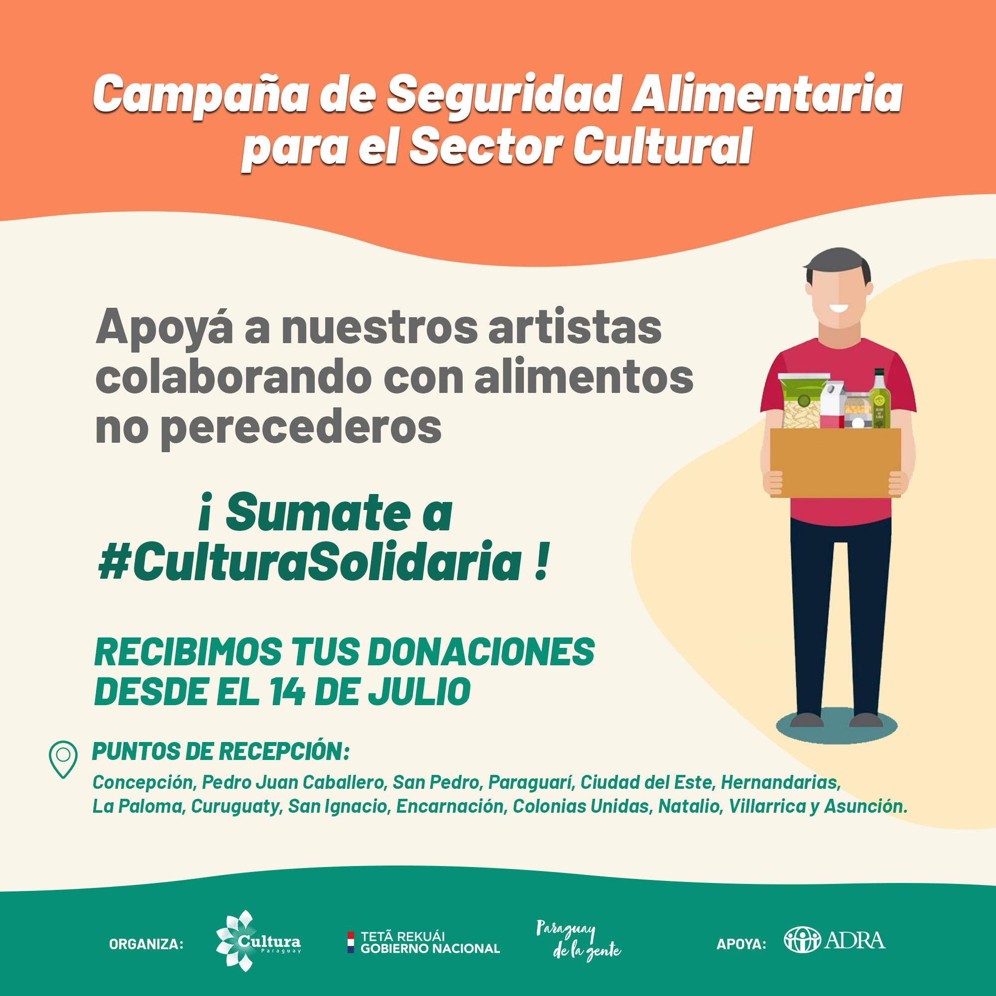 SNC lanza Campaña de Seguridad Alimentaria para el Sector Cultural imagen