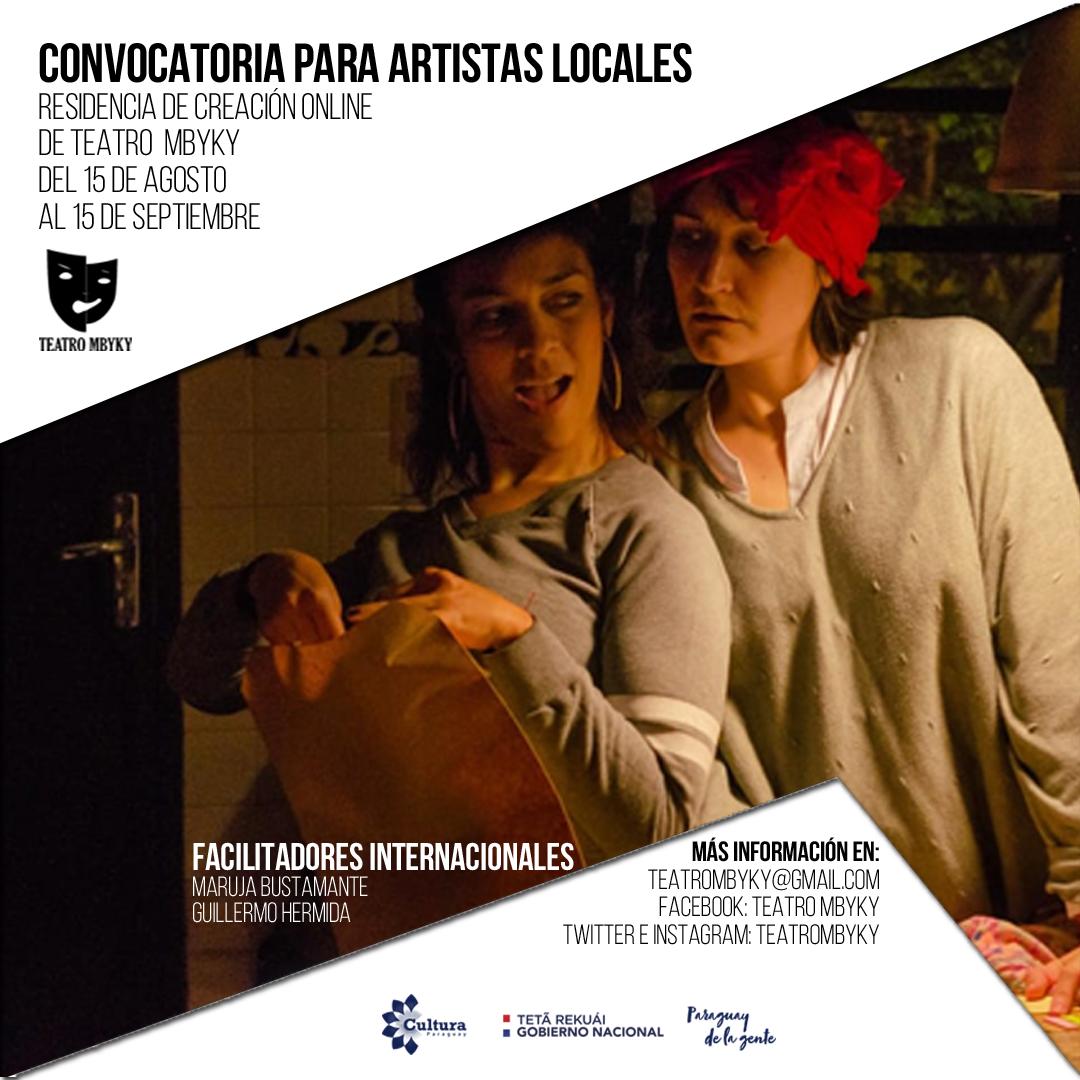 Convocatoria de artistas para la residencia virtual de creación para Teatro Mbyky imagen