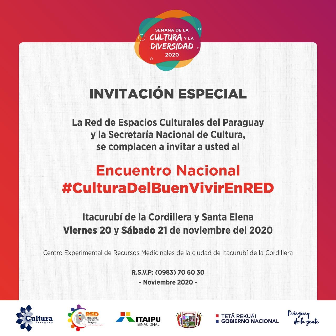SNC reconocerá a espacios culturales en Encuentro Nacional #CulturaDelBuenVivirEnRED imagen