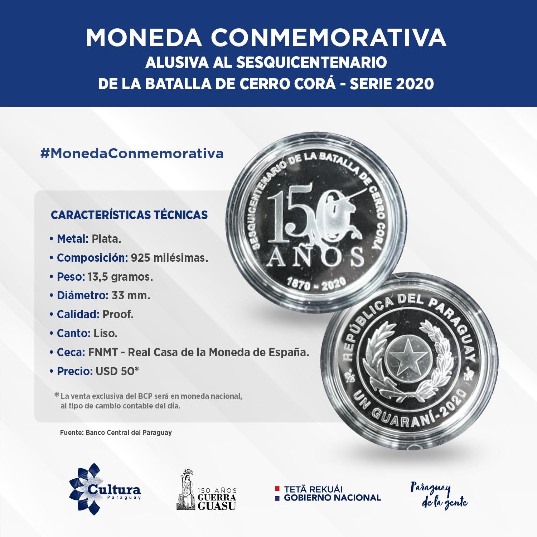 BCP lanza moneda conmemorativa por el Sesquicentenario de la Batalla de Cerro Corá imagen