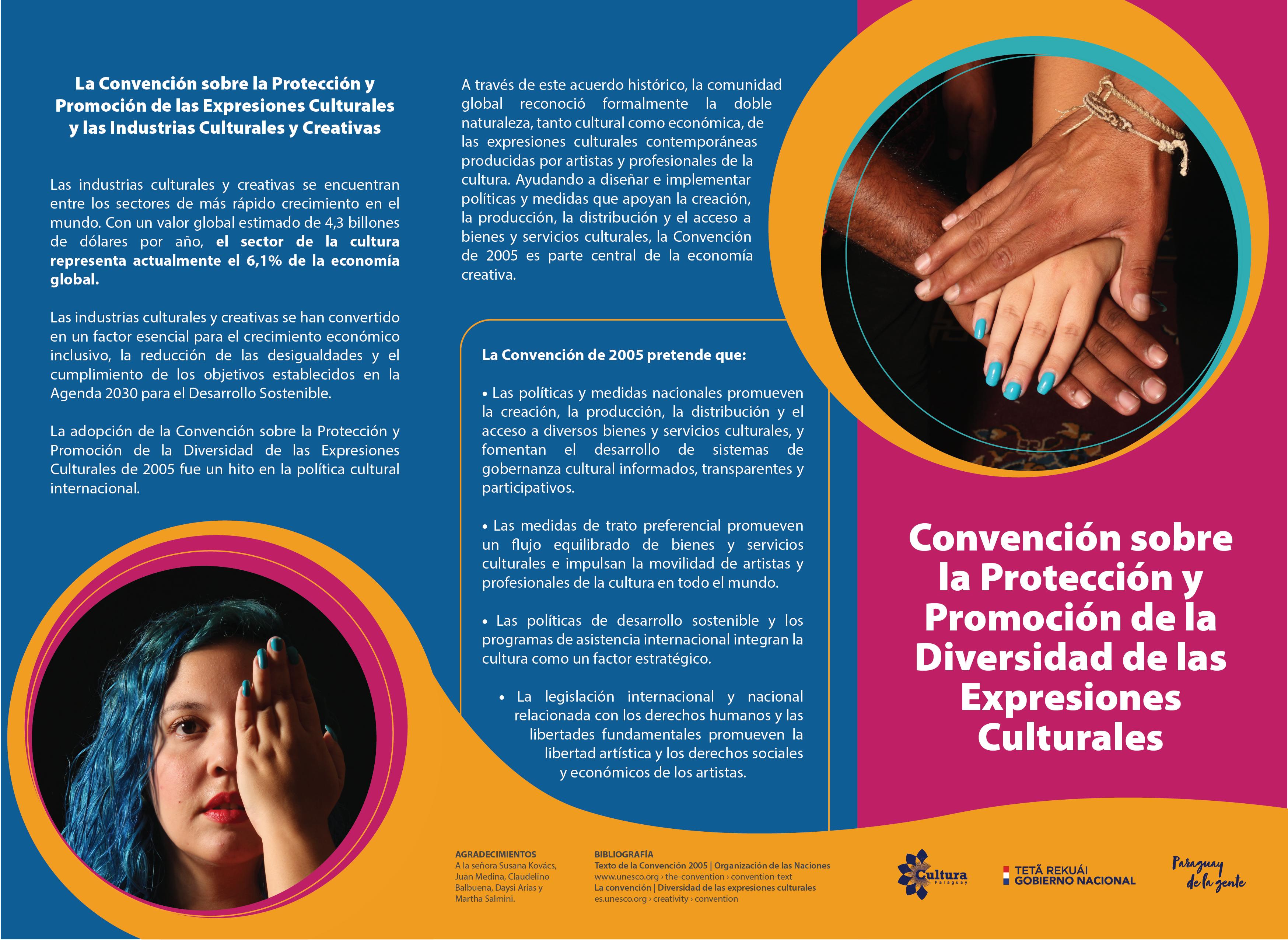 SNC lanzó tríptico sobre la protección y promoción de la Diversidad Cultural imagen