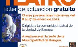 """Fondos de Cultura: El proyecto """"Acercate al Teatro"""" prosigue con los talleres de actuación imagen"""