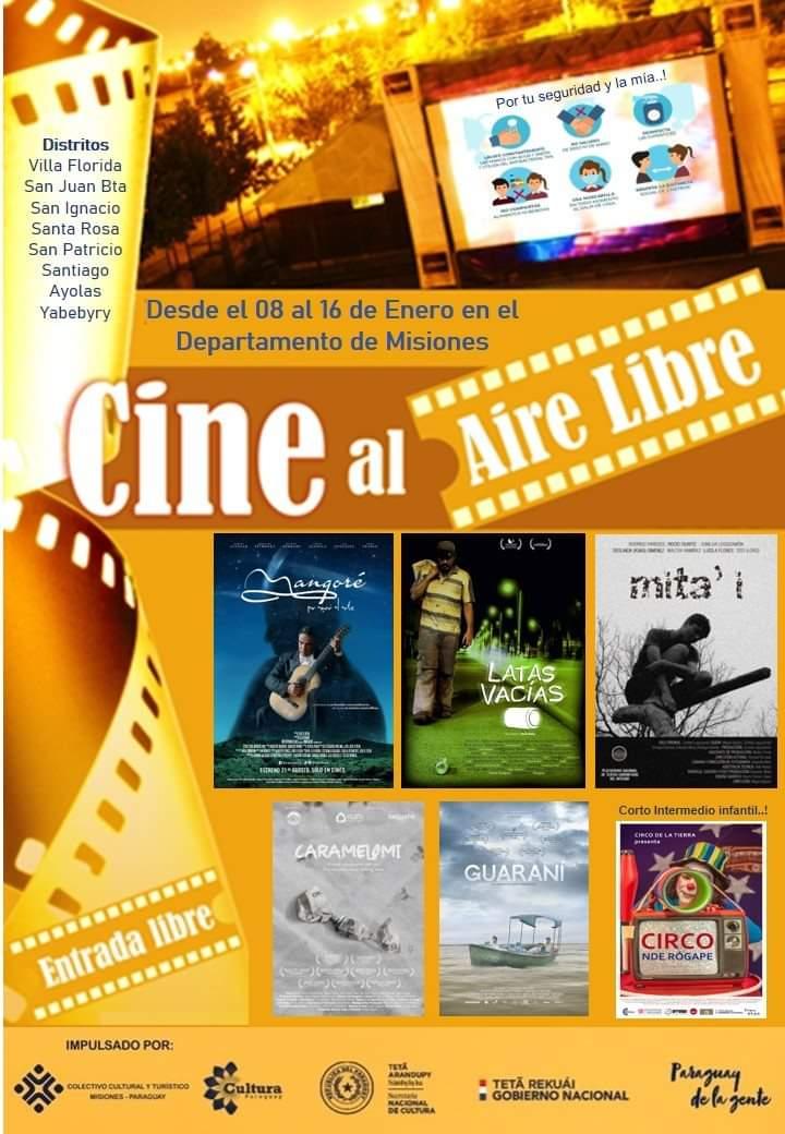 Con apoyo de la SNC, inicia ciclo de cine al aire libre en Misiones imagen