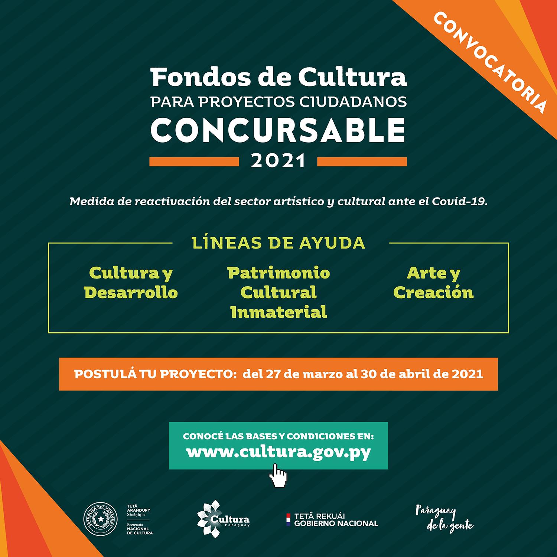 SNC habilita los Fondos de Cultura para Proyectos Ciudadanos-Concursable 2021 como medida de reactivación para el sector artístico y cultural ante la Covid-19 imagen