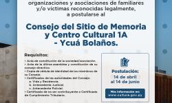 Sitio de Memoria y Centro Cultural 1A – Ycuá Bolaños: Cultura convoca a organizaciones a postularse al Consejo