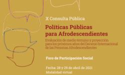 IPPDH invita a organizaciones y movimientos sociales de la región a la Consulta Pública sobre Políticas Públicas para Afrodescendientes