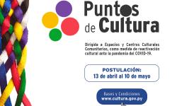 SNC abre convocatoria para el programa Puntos de Cultura 2021