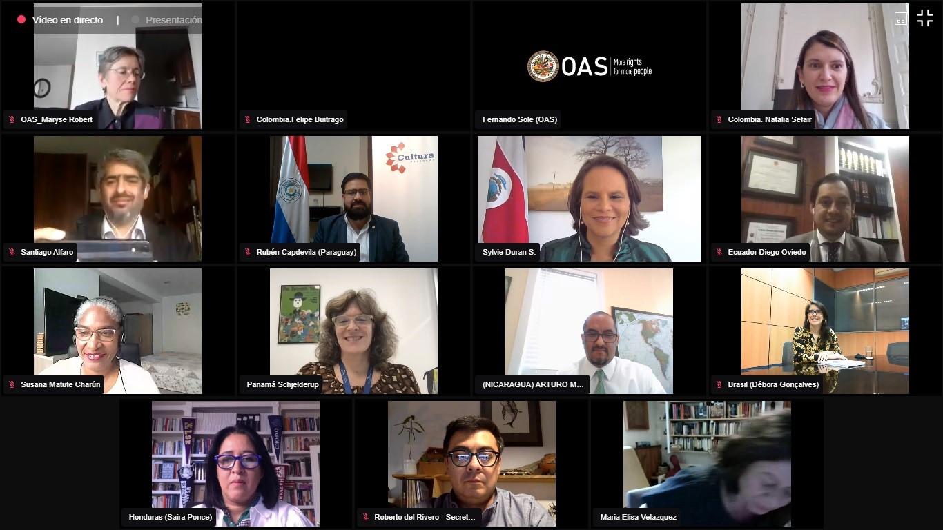 Covid-19 y cultura: ministros de Cultura de América se reunieron para analizar acciones de cara al futuro imagen