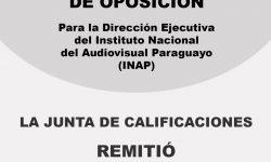 Director Ejecutivo del INAP: Junta de Calificaciones remitió la lista de terna de candidatos al cargo