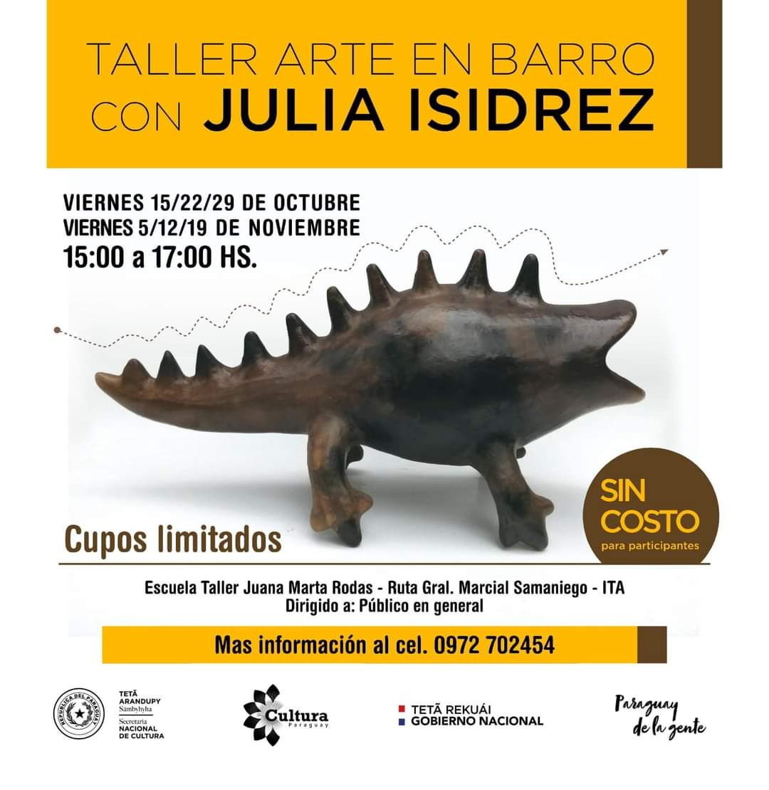 Fondos de Cultura: realizarán taller de arte en barro con Julia Isidrez imagen