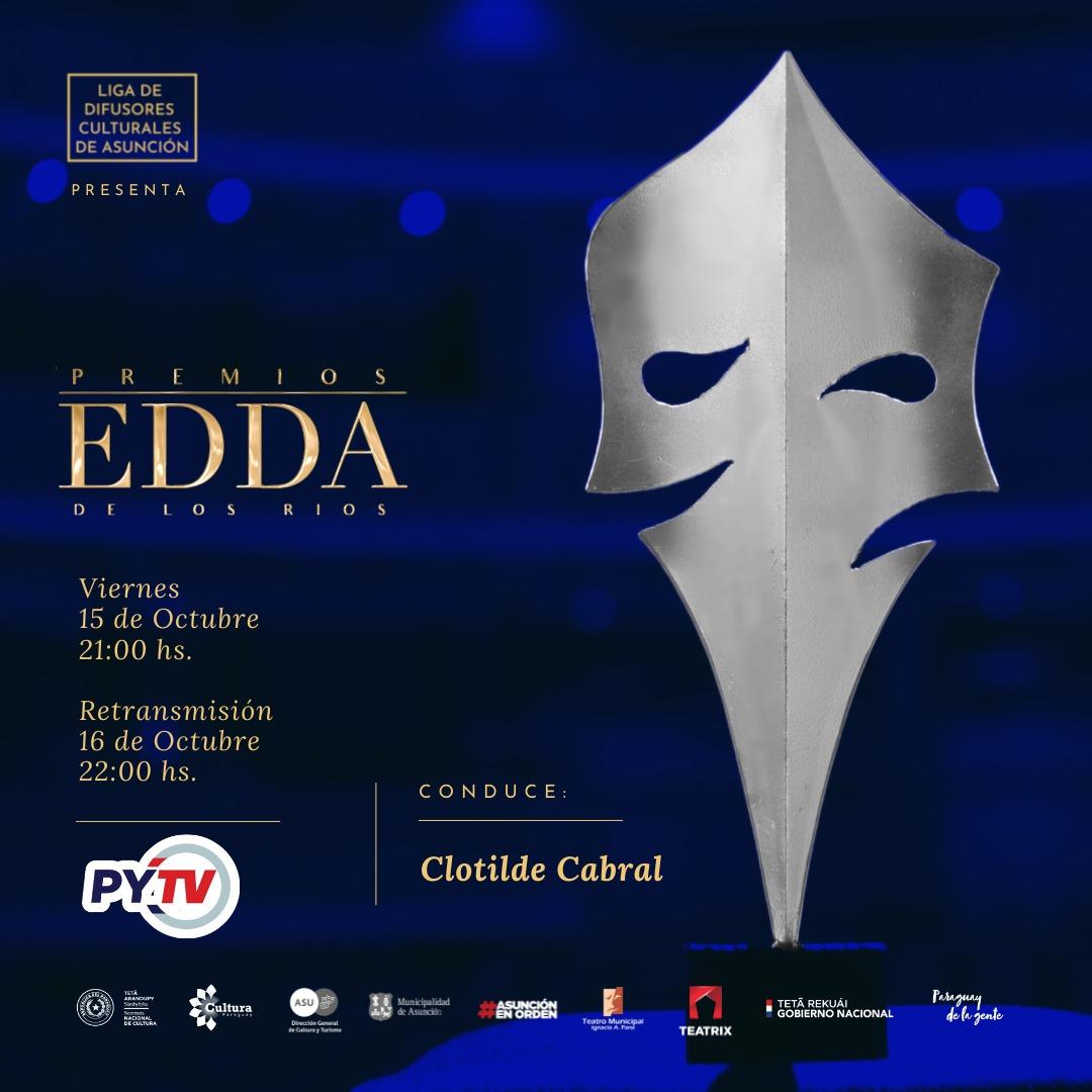 Este viernes se realizará la tercera edición de los Premios Edda de los Ríos al Teatro imagen
